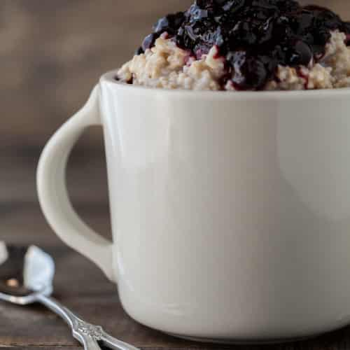 Steel Cut Oats with Roasted Berries