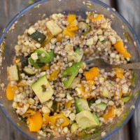 Roasted Zucchini, Corn, and Barley Salad {Mountain Picnic}