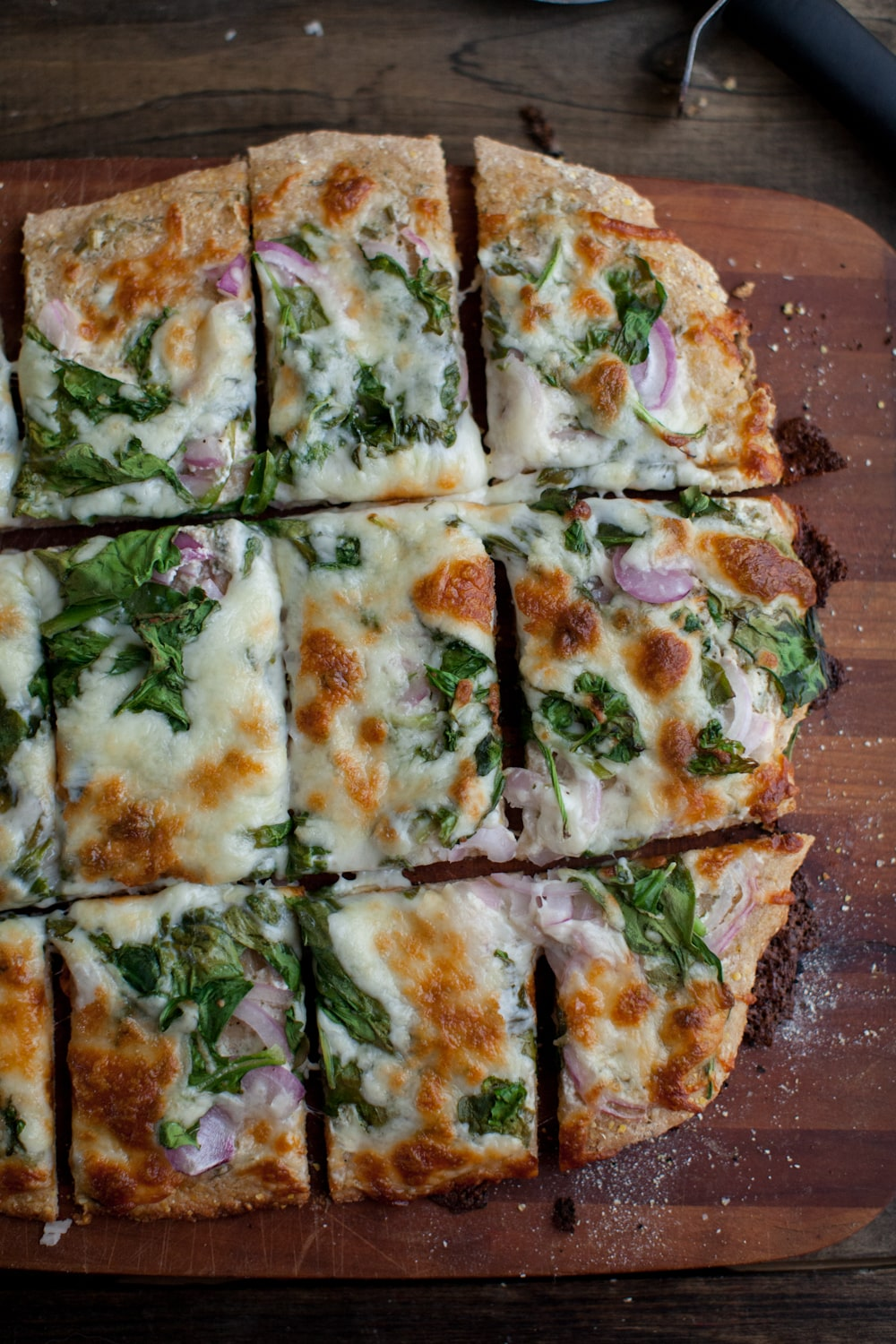 Ranch Spinach Pizza | @naturallyella