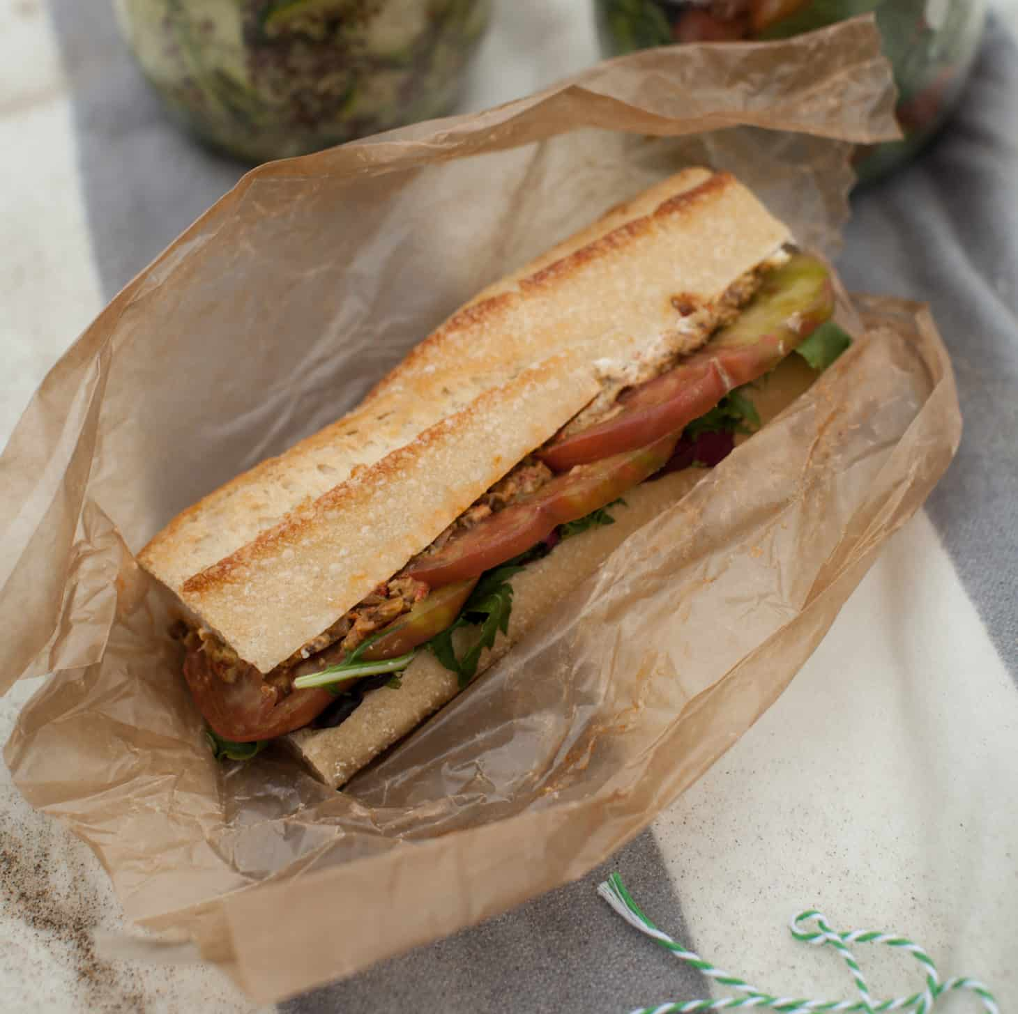Heirloom Tomato, Olive Tapenade, and Goat Cheese Sandwich (+Limantour ...