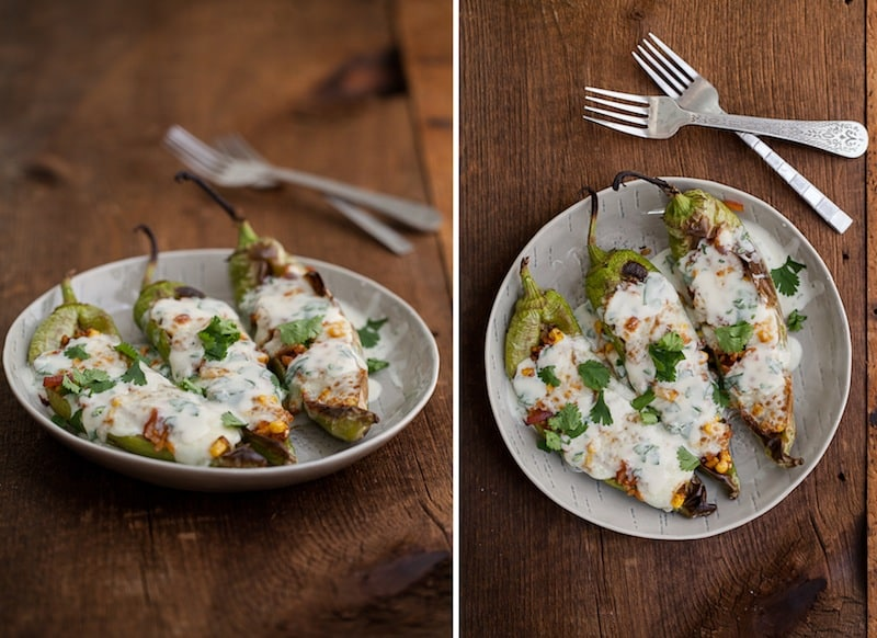 Stuffed Hatch Chiles with Cilantro-Lime Yogurt