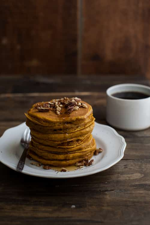 Pumpkin Pancakes with Brown Butter and Pecans