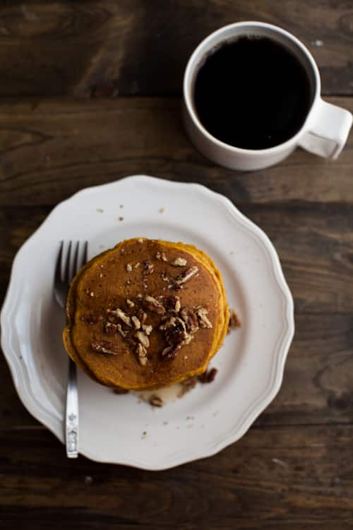 Pumpkin Pancakes with Brown Butter