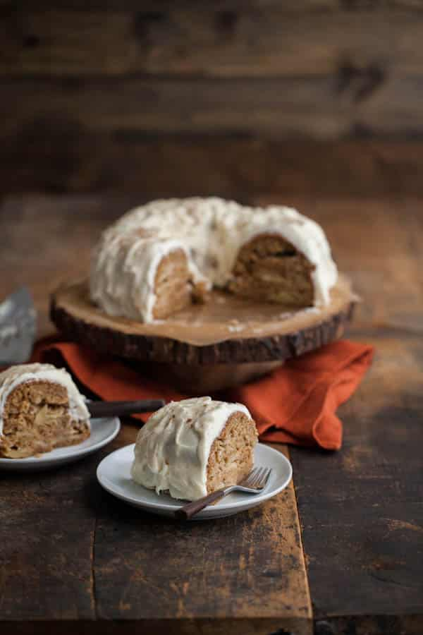 Spiced Apple Bundt Cake with Cream Cheese Frosting