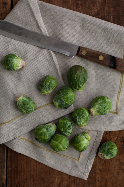 Marinated Brussels Sprout Skewers with Ginger-Barley Pilaf