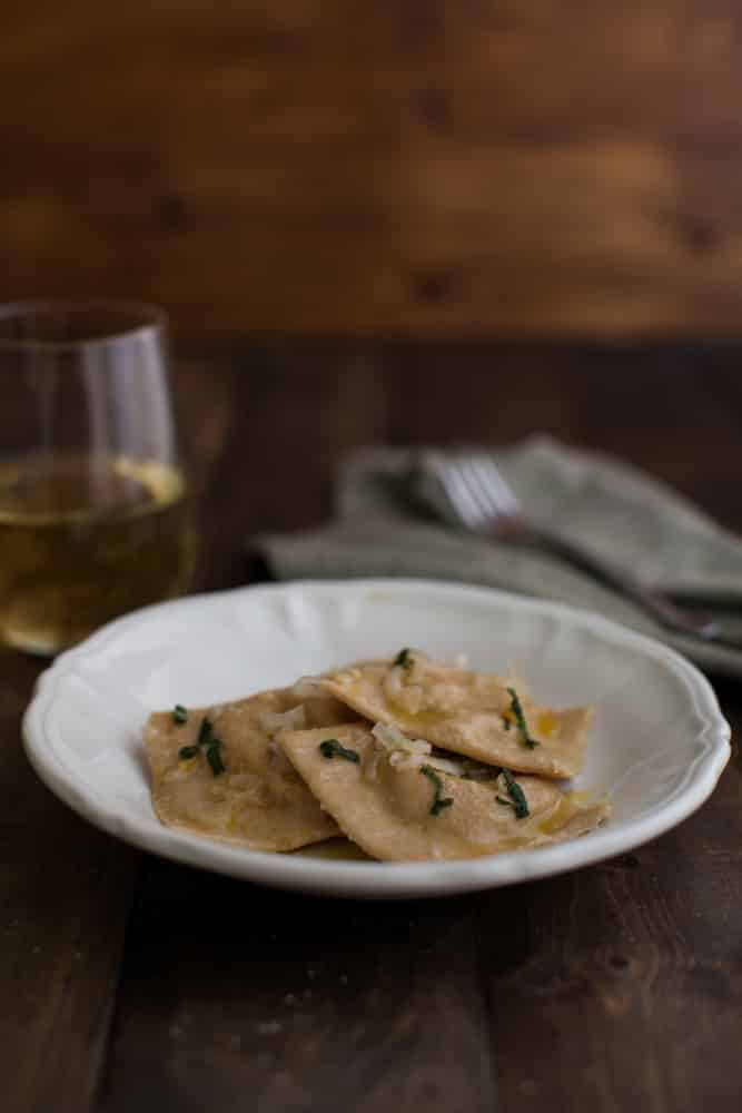 Butternut Squash and Blue Cheese Ravioli