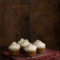 Chai Cupcakes with Maple Whipped Cream
