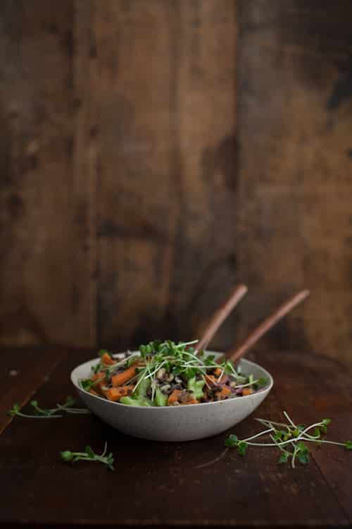Sweet Potato Salad with Beluga Lentils & Cider Vinaigrette