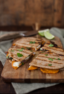 Spiced Sweet Potato Quesadilla