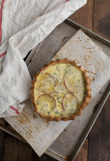 Roasted Red Potato and Gorgonzola Quiche