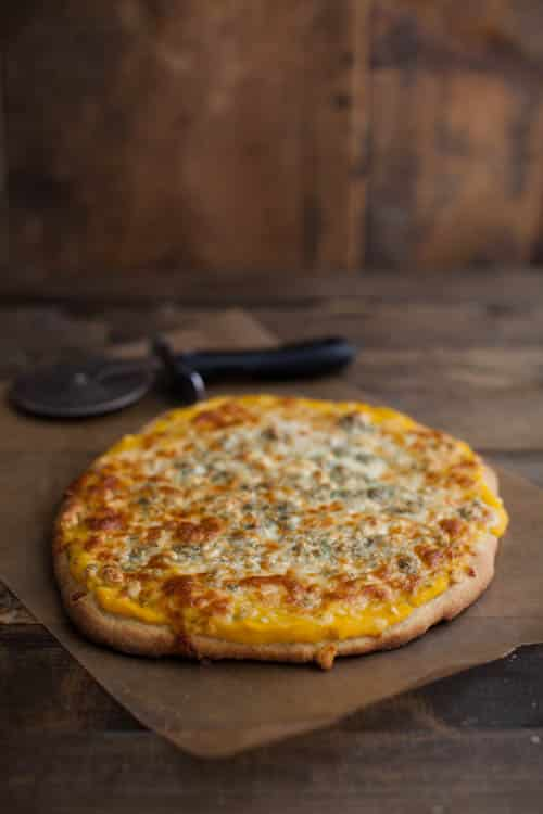 Butternut Squash Puree and Blue Cheese Pizza