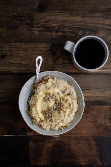 Millet Porridge with Lemon Curd and Sunflower Seeds