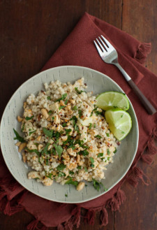 Thai Roasted Cauliflower with Pearl Couscous