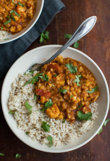 Harissa Lentils and Cauliflower | @naturallyella