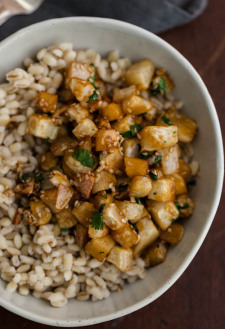 Sesame Roasted Turnips & Barley