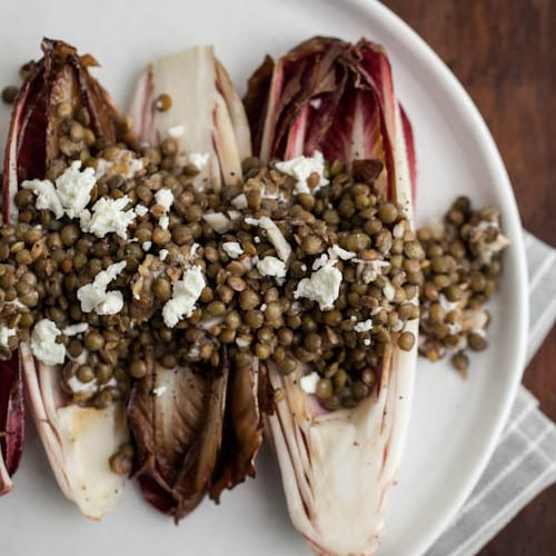 Grilled Endives with Lentils