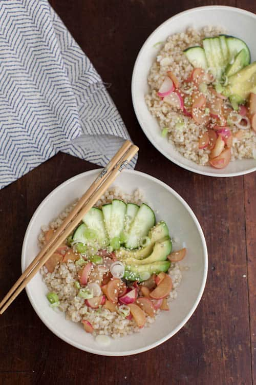 Deconstructed Radish Sushi Bowl