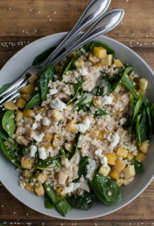 Root Vegetable Salad with Couscous and Lemon-Tahini Dressing