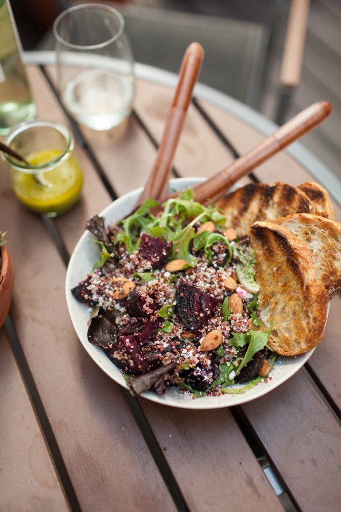 Grilled Beet, Quinoa, and Feta Salad | Naturally Ella