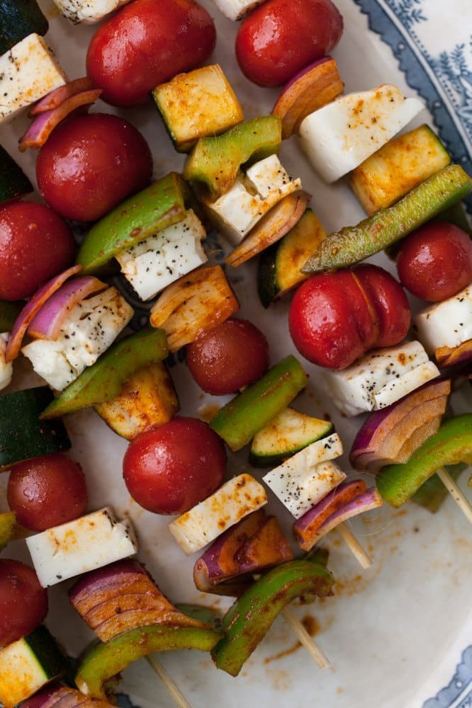 Grilled Halloumi Skewers