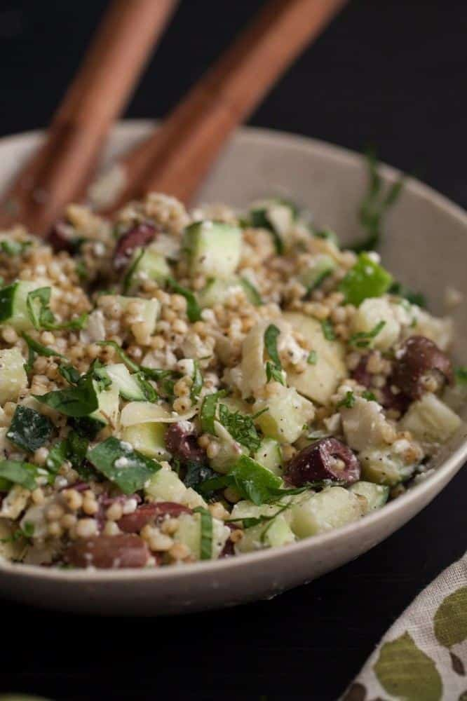 Sorghum Salad with Cucumber and Feta