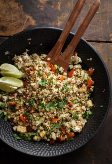 Three-Grain Grilled Vegetable and Feta Salad