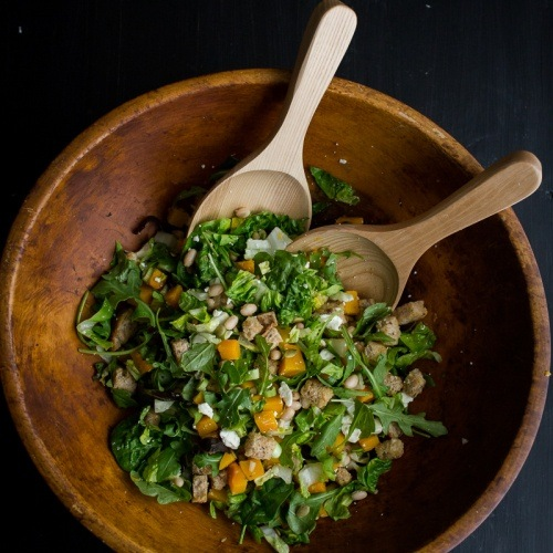 White Bean and Butternut Squash Salad with Feta