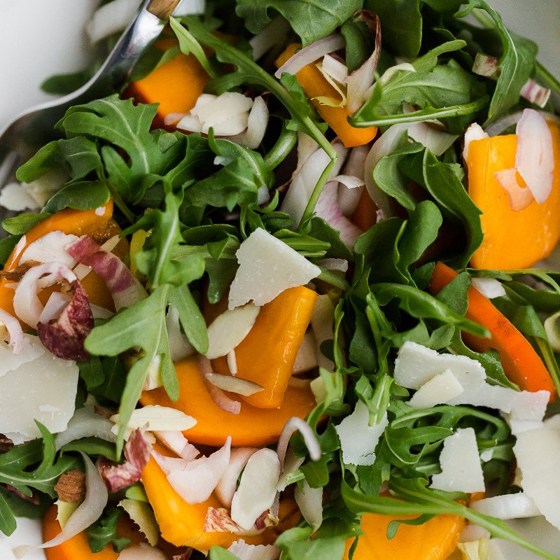 Winter Persimmon Salad | Naturally Ella