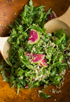 Arugula Radish Salad with Quinoa | Naturally Ella