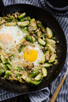 Brussels Sprouts and Eggs | @naturallyella