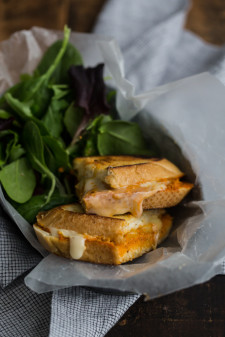 Romesco and Hummus Grilled Cheese | @naturallyella