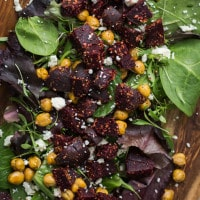 Crispy Chickpea and Za'atar Beet Salad | @naturallyella