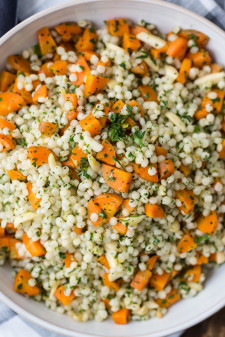Roasted Carrots and Couscous with Gremolata | @naturallyella
