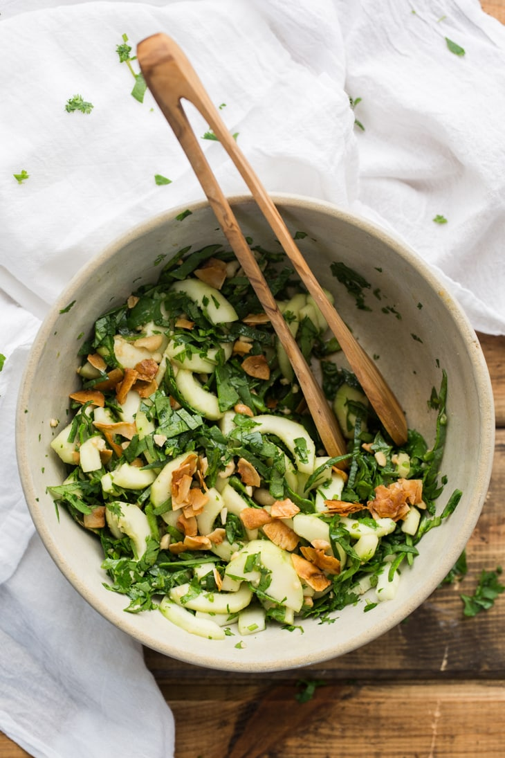 Cucumber Satay Crunch Salad