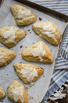 Lemon Poppy Seed Scones | @naturallyella