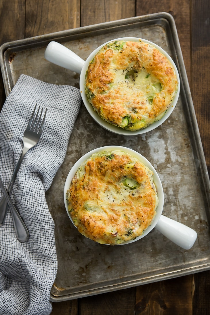Simple Vegetable Egg Bake | @naturallyella