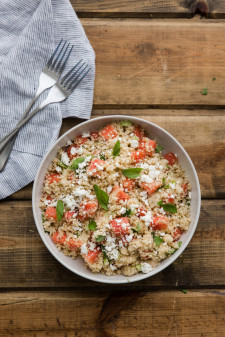 Minted Summer Couscous with Watermelon and Feta- Simply Ancient Grains