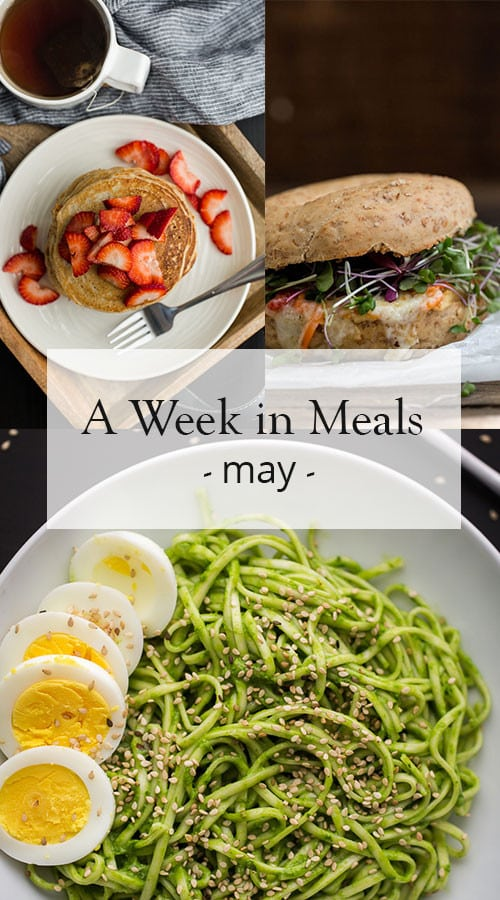 A Vegetarian Week in Meals for May | @naturallyella