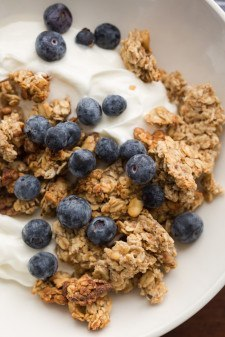 Banana Walnut Granola with Yogurt | @naturallyella