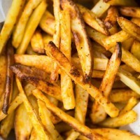 Baked French Fries | http://naturallyella.com