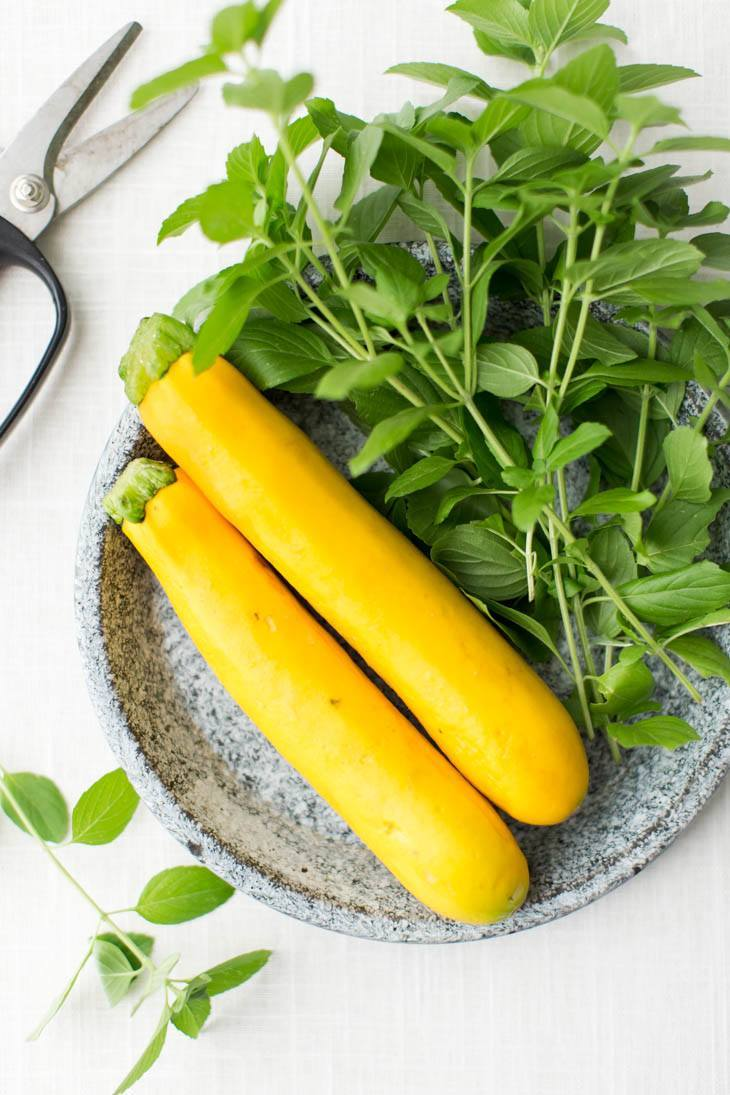 Summer Squash and Basil | http://naturallyella.com