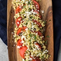 Herbed Millet with Fresh Tomatoes with Feta | http://naturallyella.com