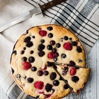Ricotta Cake with Mixed Berries