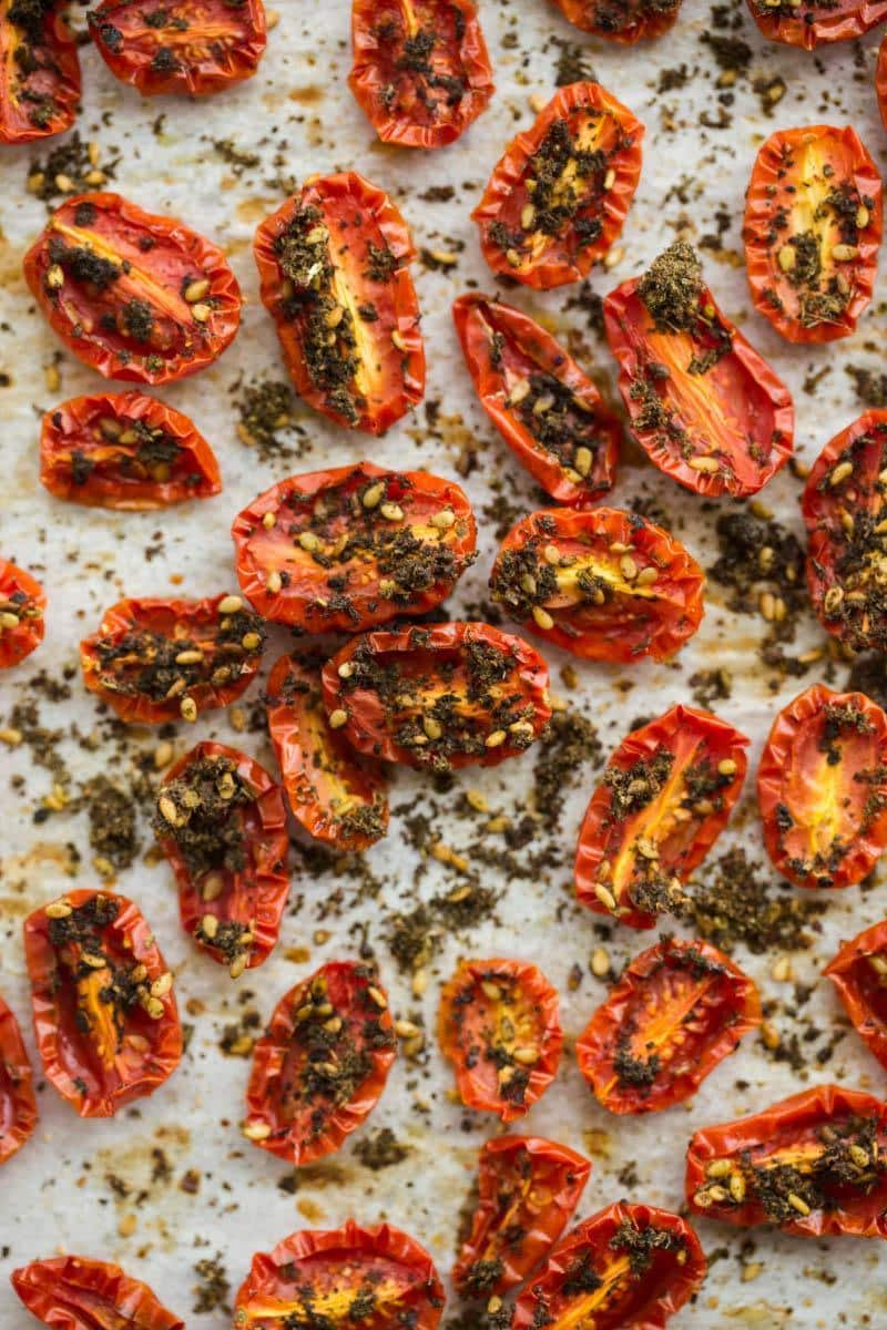 Za'atar Roasted Tomatoes- The Rose Water & Orange Blossoms Cookbook