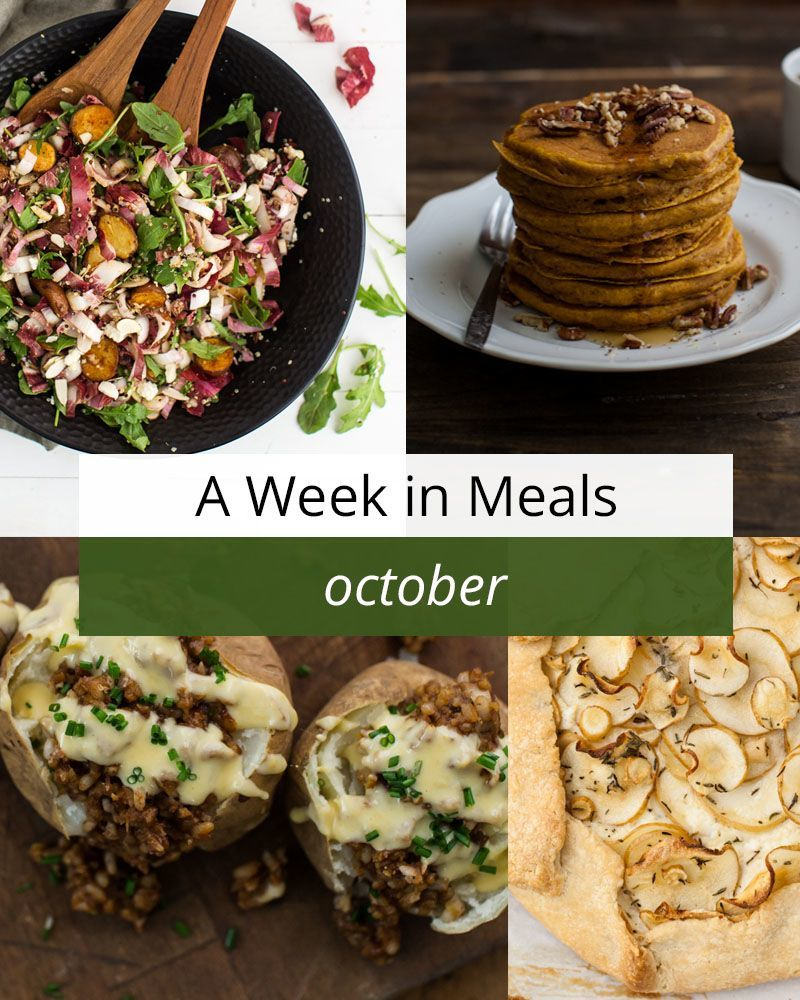 A Week in Vegetarian Meals for October | http://naturallyella.com