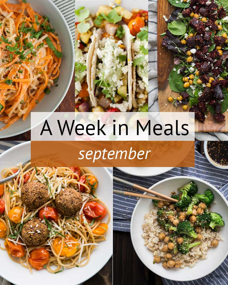 A Week In Vegetarian Meals- September | http://naturallyella.com