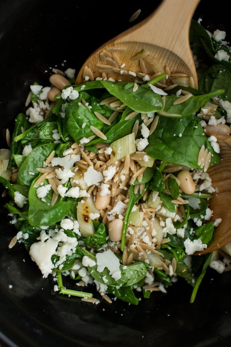 Grilled Fennel Salad with Orzo and White Beans