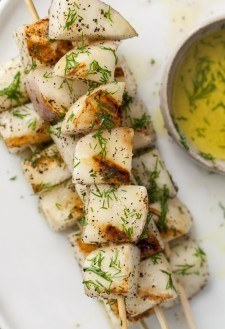 Grilled Turnips with Dill Olive Oil