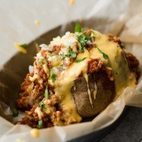 Chili Baked Potato with Cheese