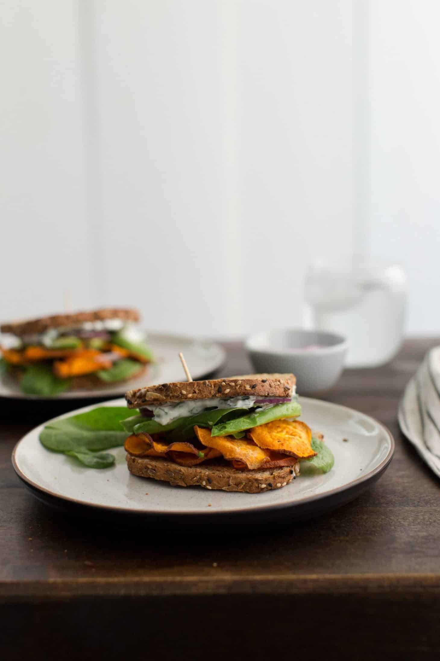 Chili Roasted Sweet Potato Sandwich